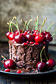 Chocolate and cherry cakes