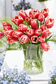 Tulipa 'Kelly' in Glasvase