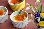 Oeufs en cocotte, eggs, spawn cream crème fraiche