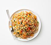 Spaghetti mit Gemüseragout