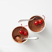 Bitterschokolade-Kaffee-Mousse
