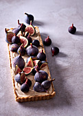 White chocolate and fig no-bake tart
