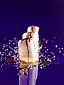 Falscher Schokokuss mit Limettenstaub (Molekularküche)