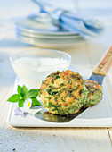 Potato and wild herb patties