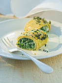 Chickpea crepe with wild herbs