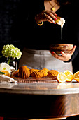 Gluten-free Myer Lemon Madeleines