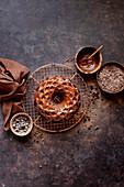 Gluten-free Chocolate Budnt cake with chocolate drizzle