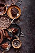 Glutenfreier Schokoladen-Kranzkuchen mit Schokoglasur
