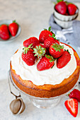 Strawberry and cream poke cake