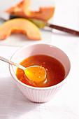 Homemade papaya and orange jam