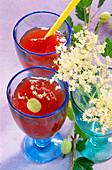 Gooseberry jam with elderflowers