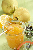 Homemade quince and orange jam