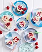 Mini Raspberry Ripple Cheesecakes