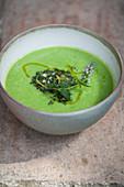 Pea soup with gremolata