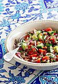 Coban salata (shepherd's salad, Turkey)