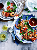 Crunchy Salt and Pepper Prawns with Sweet Chilli Syrup