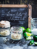 Lime and Pickled Jalapeno Salt