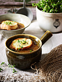 Onions French Onion Soup with Gruyere Croutons