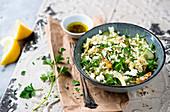 Quinoa salad with feta cheese