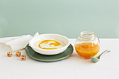 Apricot Puree with Blended Rice Cereal for babies (6-9 Months)