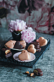 Cream filled heart cookies