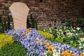 Grabgestaltung mit Hornveilchen