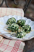 Ricotta and spinach gnocchi with parmesan