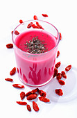 Goji berry smoothie with chia seeds