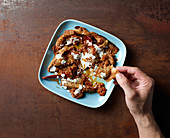 Afghan Eggplant with yogurt and mint