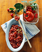 Tomato and sour cherry chutney