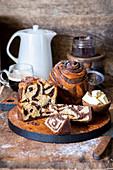 Cocoa swirl bread