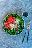 Grapefruit and rocket salad