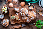 Rustic soda bread
