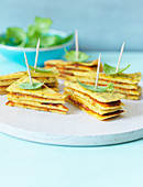 Chickpea crepes with basil