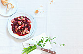 Beetroot salad with white beans