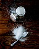 Filling a salt shaker