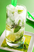 A mojito made with white rum