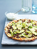 Beef, White Bean and Zucchini Pizza