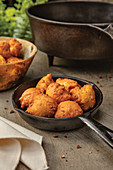 Hush puppies in cast iron pan (US)