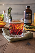 Rosemary cranberry elixer