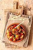 Tapas - patatas bravas (Spain)