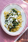 Tagliatelle with chard and lemon zest
