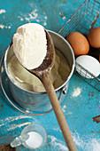 Ingredients for stinging nettle ravioli