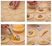 Preparing raviolis