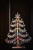 Christmas tree made from glass beads