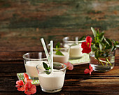 Moose milk – elk milk with Canadian whisky, coffee liqueur, vanilla ice cream and cold milk