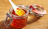 Chili-Apfel-Gelee im Bügelglas