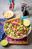 Oriental cabbage salad with peanuts and cilantro (Asia)