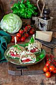 Cesar salad rolls