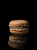 Macaron with vanilla